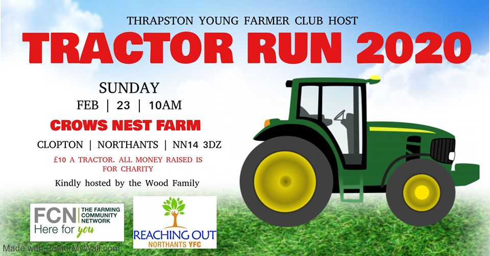 Thrapston Young Farmers Tractor Run